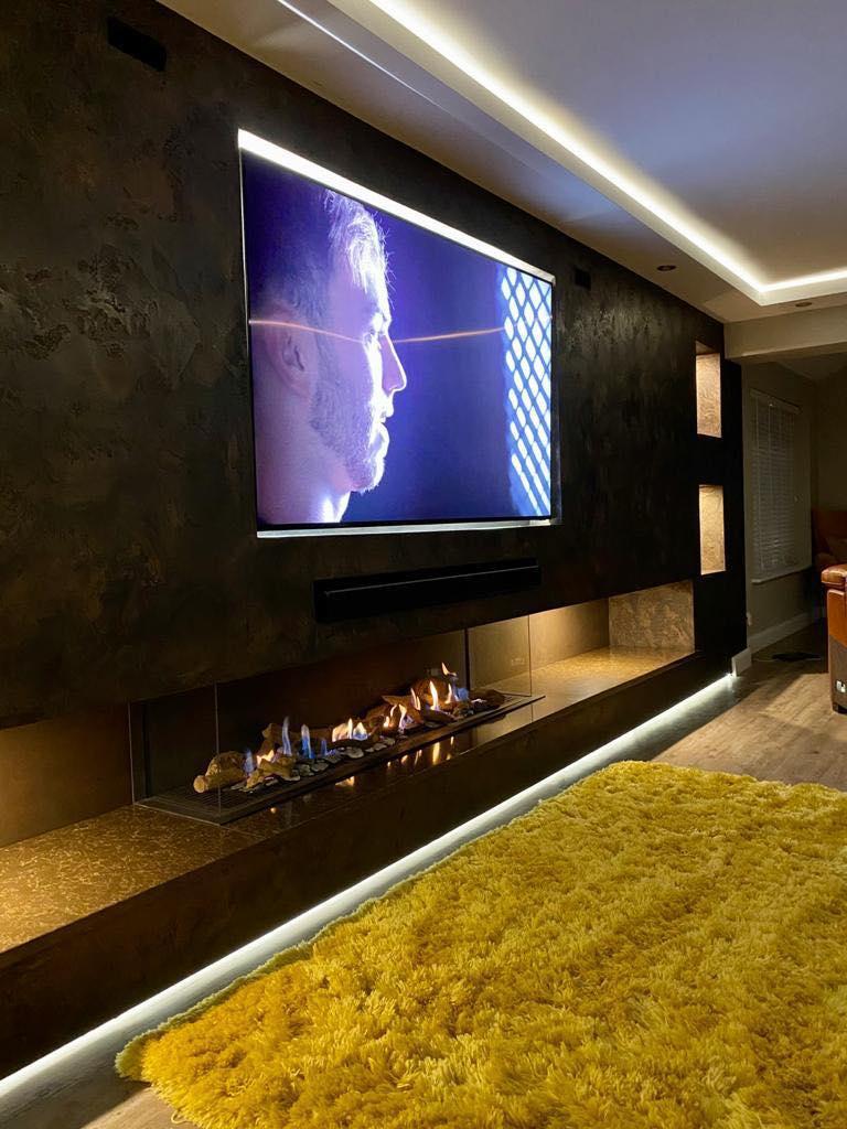 Venetian Plaster Interior Design Manchester Cheshire - Venetian Plastering North West. - Luxury TV wall design