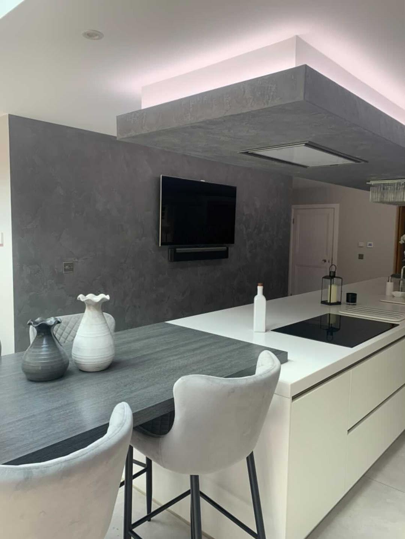 Venetian Plastering North West - Venetian Plaster TV grey kitchen Manchester Cheshire June 2021